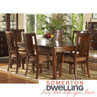 Somerton Dwelling Rhythm 7-Piece Hardwood Dining Set
