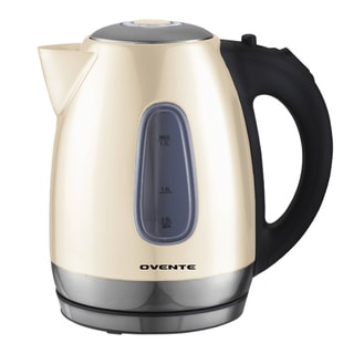 Ovente 1.7-liter Beige Stainless Steel Electric Kettle