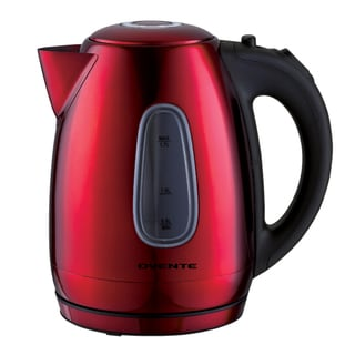 Ovente 1.7-liter Red Stainless Steel Electric Kettle