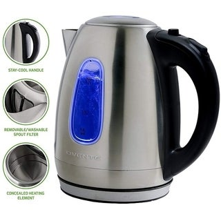 Ovente 1.7-liter Brushed Stainless Steel Electric Kettle