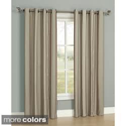 'Charisma' Neutral Stripe Grommet Curtain Panel Pair
