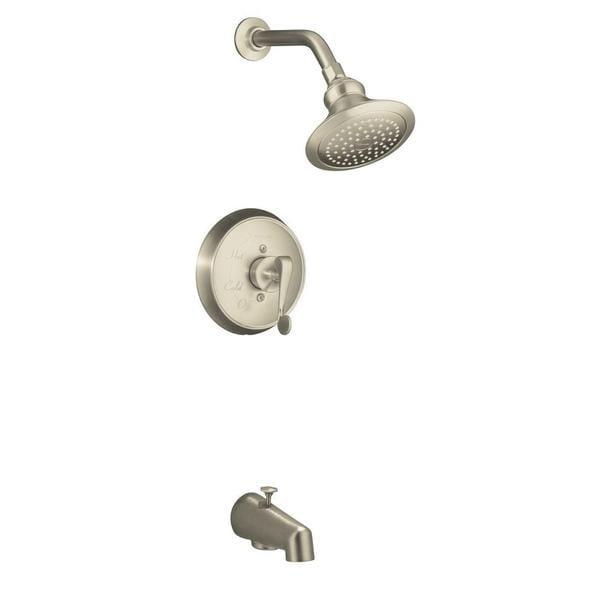 Kohler Revival Rite-Temp Pressure-balancing Bath and Shower Faucet Trim, Scroll Lever Handle