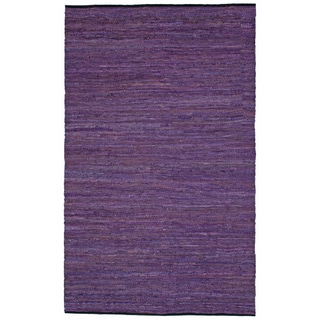 Hand-woven Matador Purple Leather Rug (10' x 14')