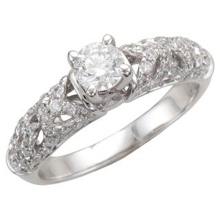14k White Gold 1ct TDW Lace Collection Engagement ring (H-I, I1-I2)