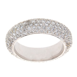 14k White Gold 2 2/5ct TDW Diamond Pave Band (H-I, SI1)