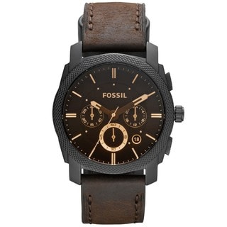 Fossil Men's FS4656 Machine Brown Leather Chronograph Watch