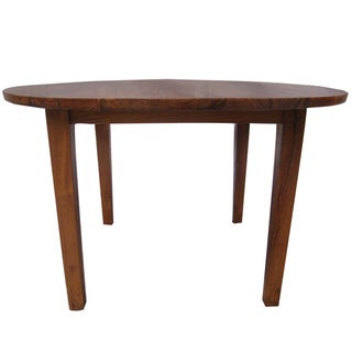 Mid-Century Reclaimed Teak Round Dining Table (Indonesia)