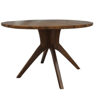 Modern Round Reclaimed Teak Dining Table (Indonesia)