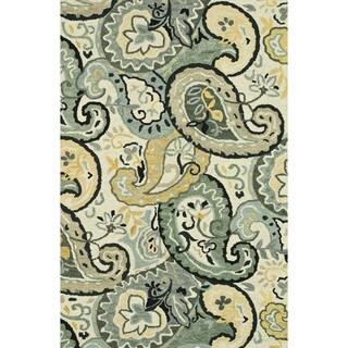 Hand-hooked Tessa Grey Wool Rug (9'3 x 13)