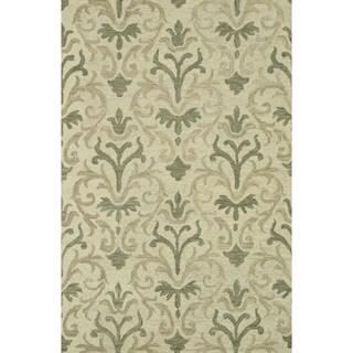 Hand-hooked Tessa Neutral Wool Rug (9'3 x 13)