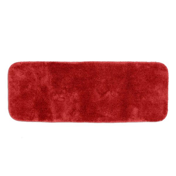 Somette Posh Plush Garnet Red 22 x 60 Bath Runner