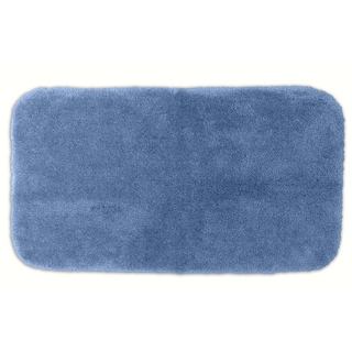 Somette Posh Plush Basin Blue 30 x 50 Bath Rug