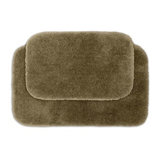 Posh Plush Taupe 2-piece Bath Rug Set
