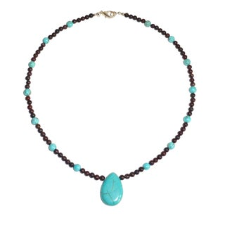 Every Morning Design Turquoise Drop On Brecciated Jasper Necklace