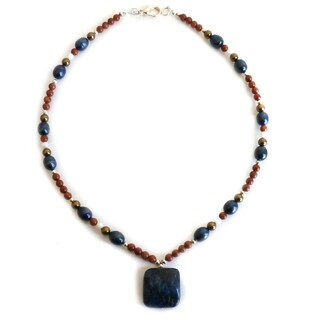 Every Morning Design Lapis Drop On Goldstone Necklace