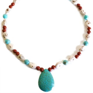Every Morning Design Turquoise and Magnesite Necklace