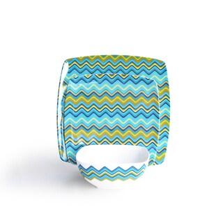 Waverly  Zigzag Turquoise 12 Piece Set