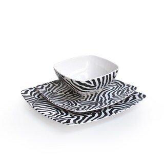Waverly 'Wildlife Onyx' 12-piece Dinnerware Set