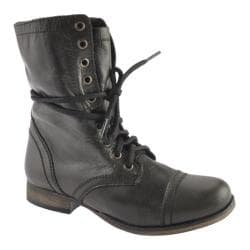 Women's Steve Madden Troopa Black Leather