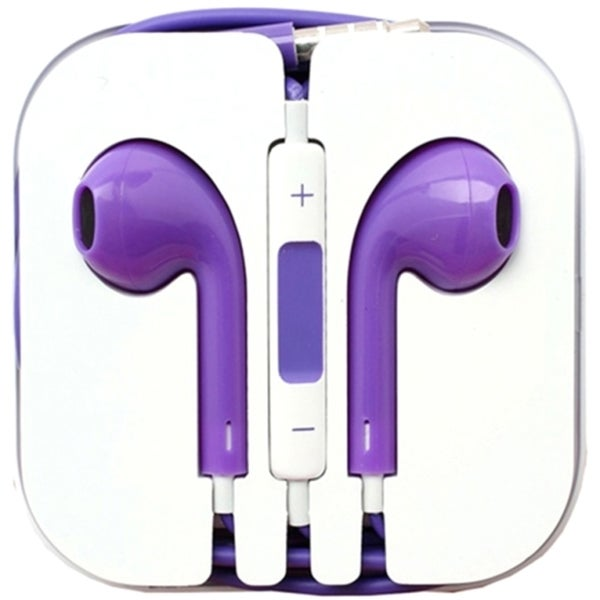 4XEM Purple Earphones For iPhone/iPod/iPad