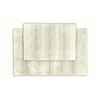 Somette Westport Stripe Chalk Bath Rug Set of 2