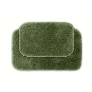 Posh Plush Sage 2-piece Bath Rug Set
