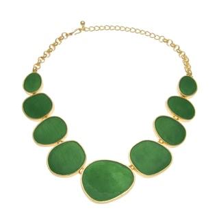 Kenneth Jay Lane Emerald Green Bib Necklace