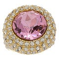 Kenneth Jay Lane Pink CZ Ring