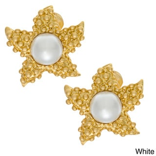 Kenneth Jay Lane Goldtone Starfish Earrings