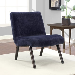 Navy Quilted Armless Chair