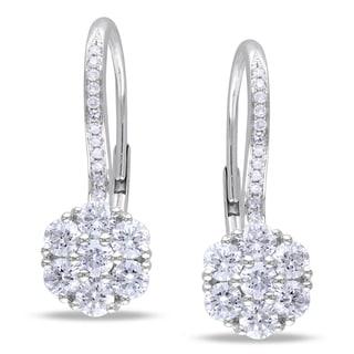Miadora 14k White Gold 1 1/2ct TDW Diamond Earrings (G-H, SI1-SI2)