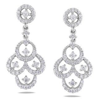 Shira Design 18k White Gold 3/5ct TDW Diamond Chandelier Earrings (G-H, I1-I2)