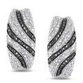 Miadora Sterling Silver 1/10ct TDW Diamond Stud Earrings (H-I, I2-I3)