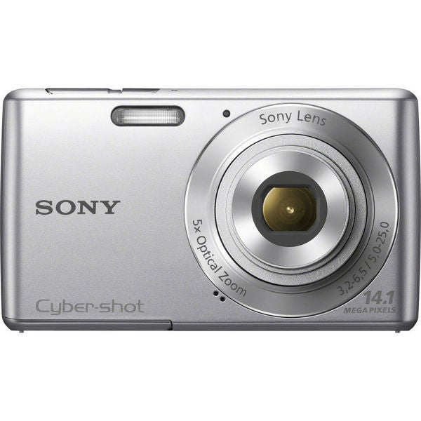 Sony Cyber-Shot DSC-W620 14.1MP Silver Digital Camera 16GB Bundle