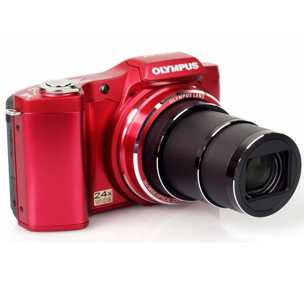 Olympus SZ-14 14MP Red Digital Camera