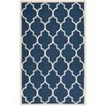 Geometric Safavieh Handmade Cambridge Moroccan Navy Wool Rug (4' x 6')