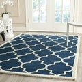 Safavieh Handmade Cambridge Moroccan Navy Indoor Wool Rug (5' x 8')