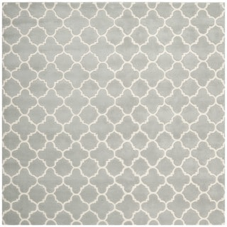 """Contemporary Handmade Moroccan Gray Wool Rug (8'9"""" Square)"""