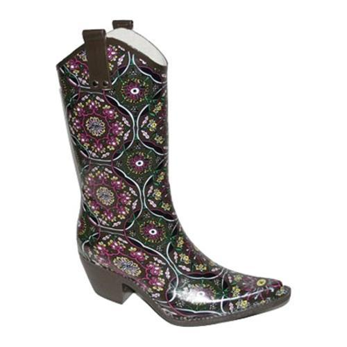 Women's Nomad Yippy Brown Burgundy Mosaic