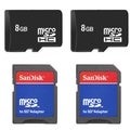 8GB MicroSD Memory Card with SD Adapter (Pack of 2)