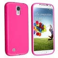 BasAcc Hot Pink Jelly TPU Case for Samsung Galaxy S IV/ S4 i9500