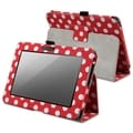 BasAcc Red/ White Dot Case with Stand for Amazon Kindle Fire HD 7-inch
