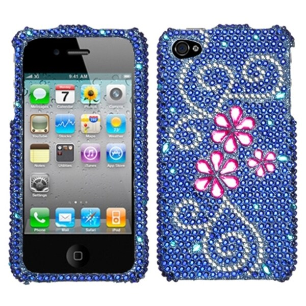 BasAcc Juicy Flower Diamante Case for Apple iPhone 4/ 4S
