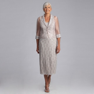 Alex Evenings Women's 2-piece Lace Jacket Dress