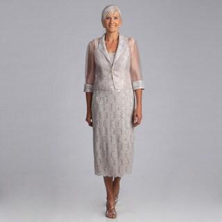 Alex Evenings Women's 2-piece Lace Jacket Dress