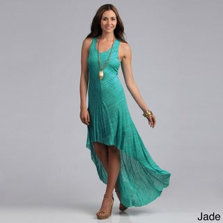 Elan Women's Racer Back High-low Knit Dress