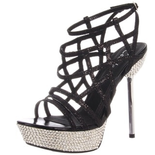Celeste Women's 'STACY-06' Strappy Rhinestones Sandals