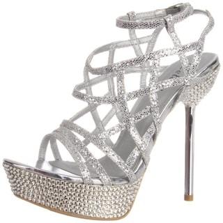 Celeste Women's 'STACY-06' Strappy Medium-Width Rhinestones Sandals