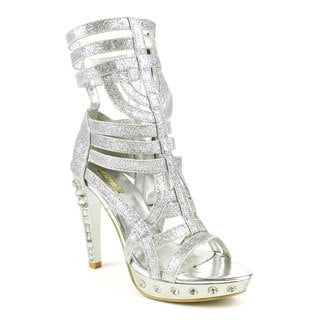 Celeste Women's 'TITI-05' Strappy Rhinestone Lace Up Sandals
