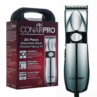 Conair Pro Detachable Blade Chrome 20-piece Haircut Kit